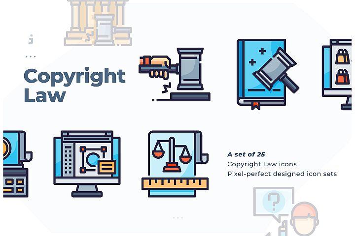 25 Copyright Law icon