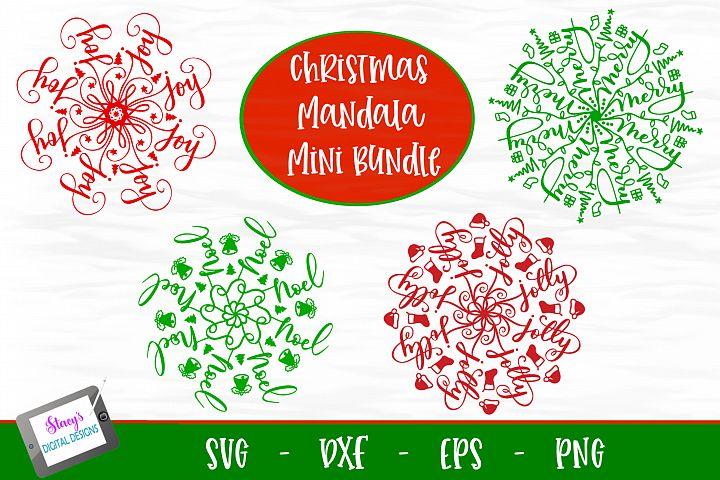 Christmas Mandala Mini Bundle - 4 Christmas Mandala SVG