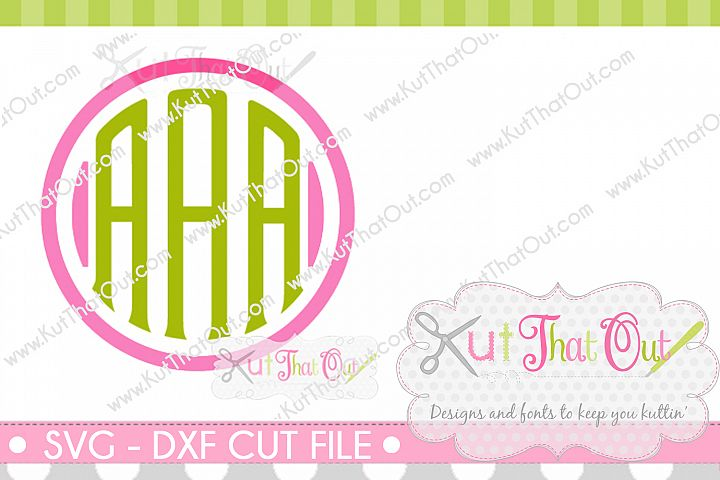 Exclusive Clubhouse Monogram Font SVG & DXF Cut File