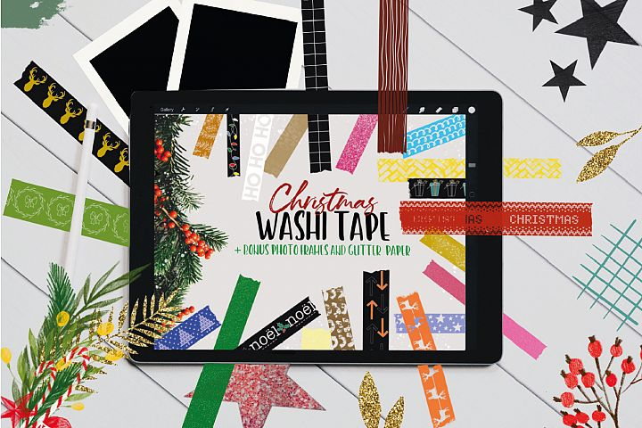 Christmas Washi Tape Stamp Pack