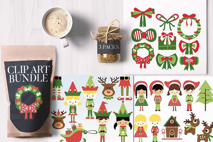 Elf and Santas Little Helper, Christmas Bundle