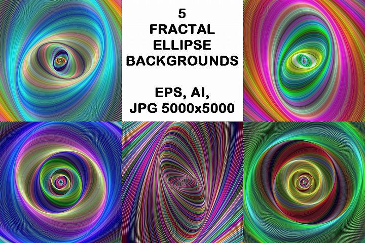 5 fractal ellipse design backgrounds