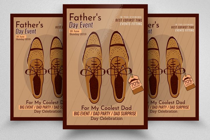 Fathers Day Event Flyer Template