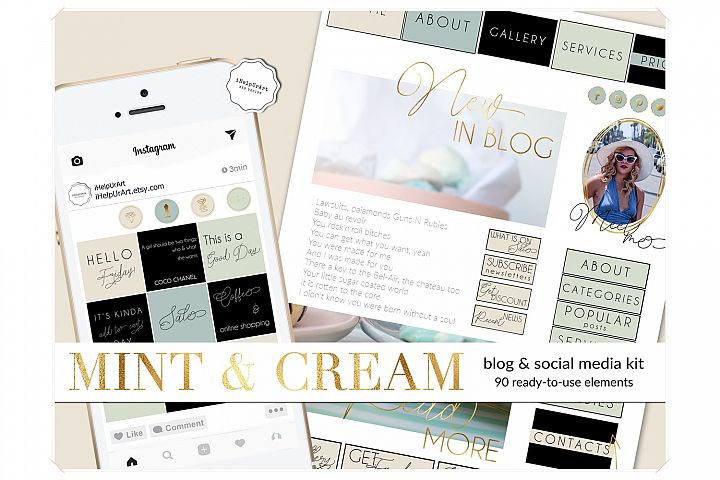 Blog Design Bundle - Pastel Colors Blogger Template