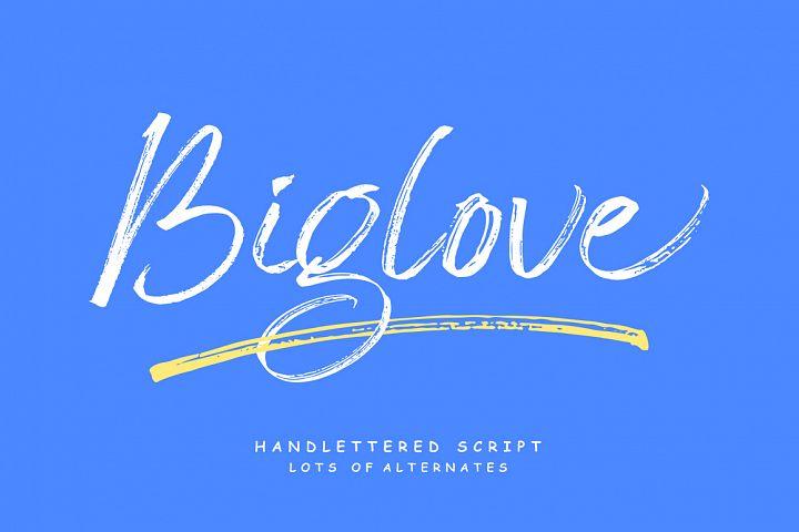 Biglove Brush Font
