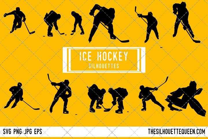 Ice Hockey silhouette, Player Goalie Svg, png, eps