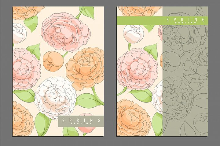 Spring Bright Floral Cover Template