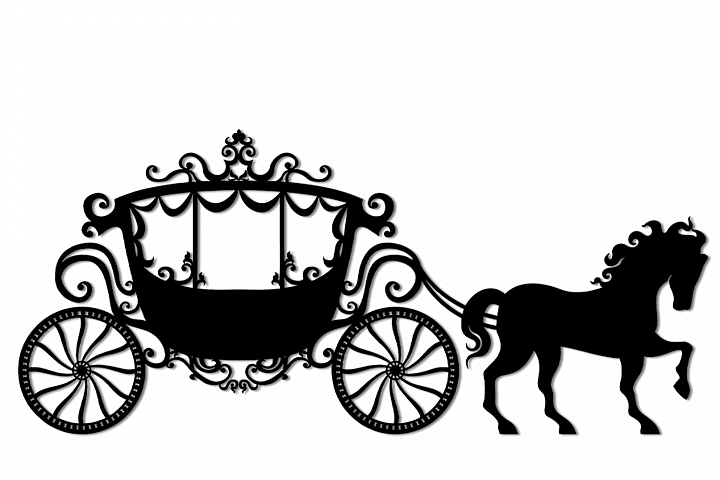 SVG and PNG cutting files, Vintage Carriage,Clipart