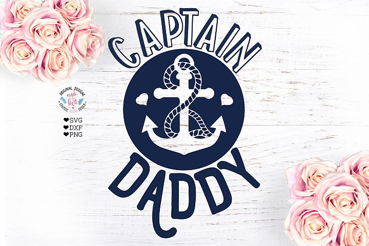 Captain Daddy - Summer Nautical Dad T-shirt Design