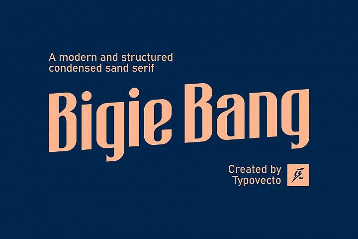 Bigie Bang Condensed Font