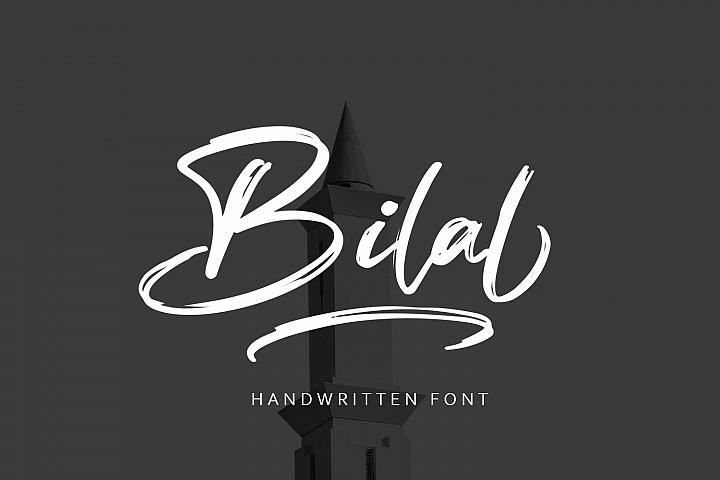 Bilal Brush Font