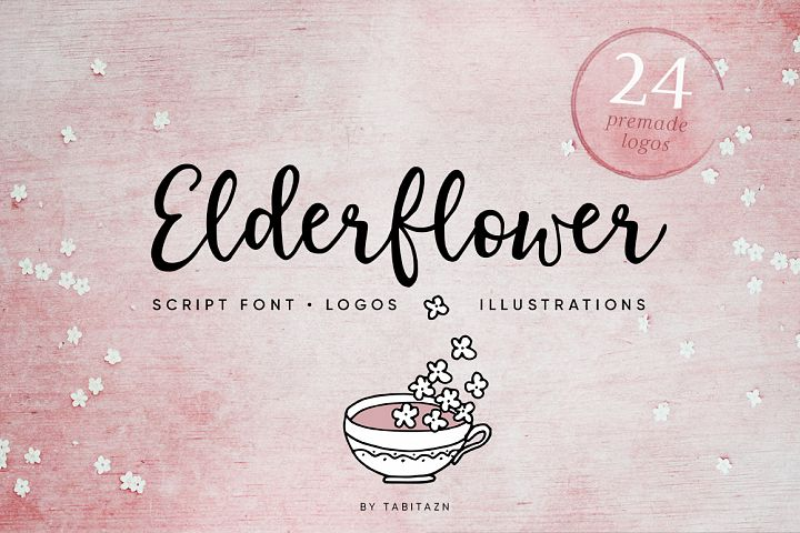 Elderflower script + logos