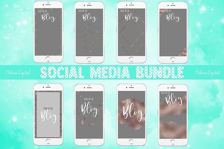 Grey and Rosegold Social Stories Template