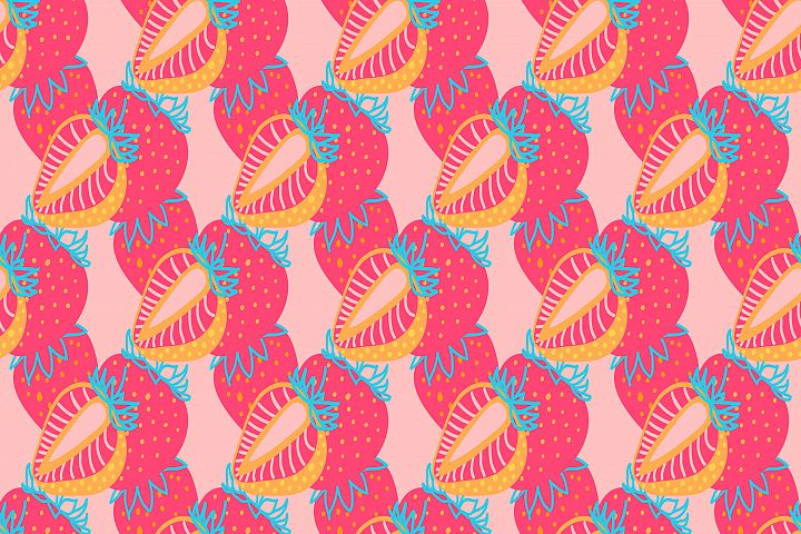 Seamless pattern of Strawberrys virtual background for Zoom