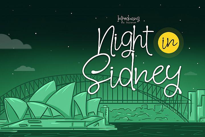 Night in Sidney
