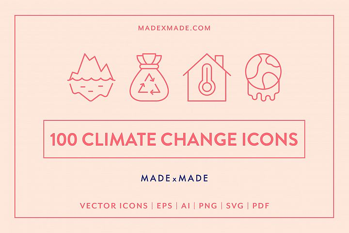 Line Icons - Climate Change