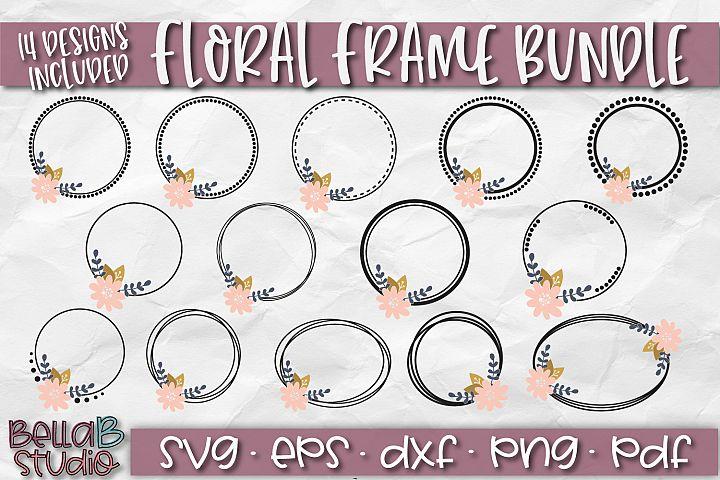 Floral Frames SVG, Circle Frames SVG, Monogram Frame, Border