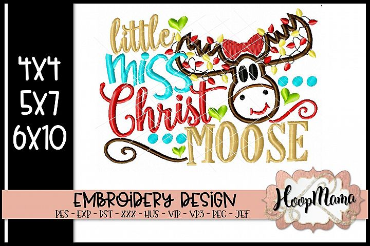 Little Miss Christmoose- Christmas Embroidery