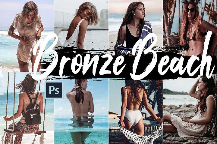 Neo Bronze Beach Color Grading photoshop actions, ACR LUT pr