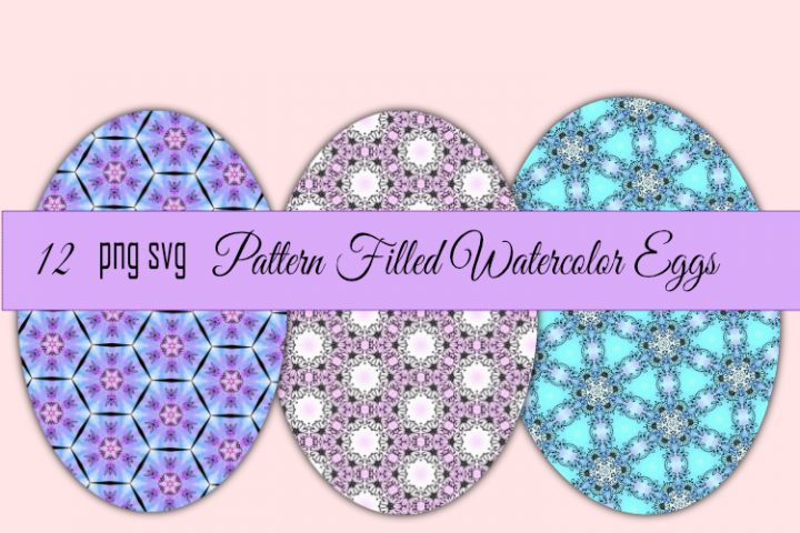 Watercolor Pattern Easter Eggs