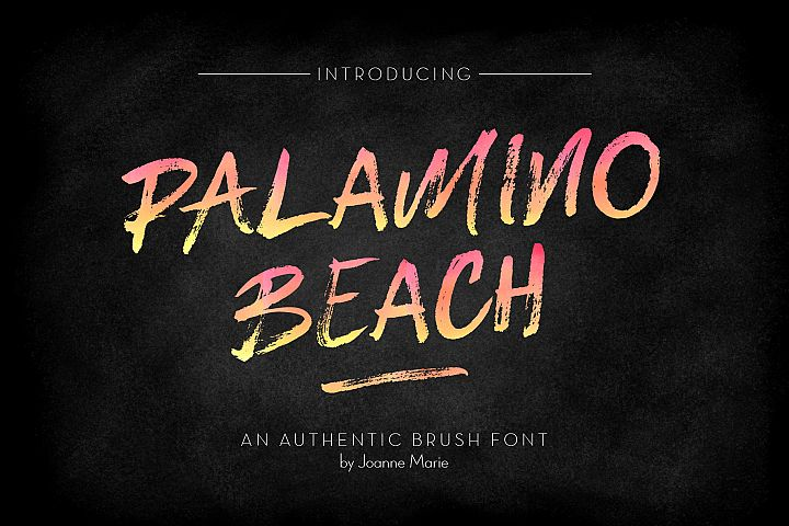 Palamino Beach Brush Font