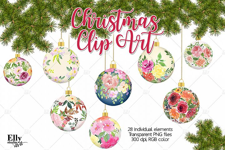 Christmas Clip Art - Christmas balls