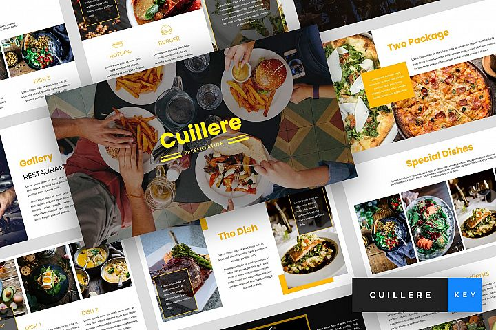 Cuillere - Restaurant Keynote Template
