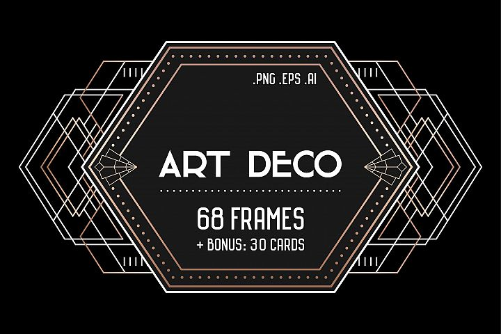 Art Deco Set 68 frames, 30 Cards