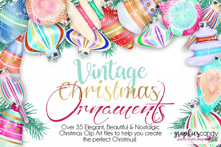 Vintage Christmas Ornament Clip Art