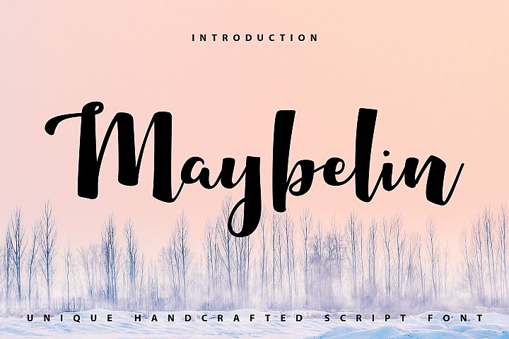 Maybelin | Unique Handcrafted Script Font