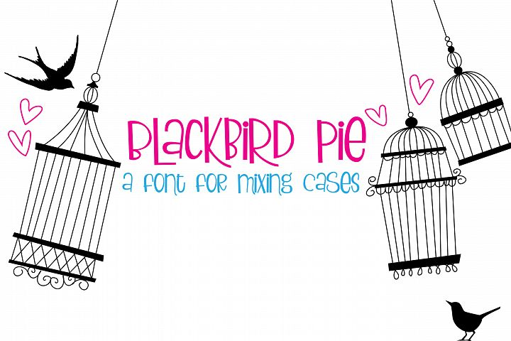 ZP Blackbird Pie - Free Font of The Week