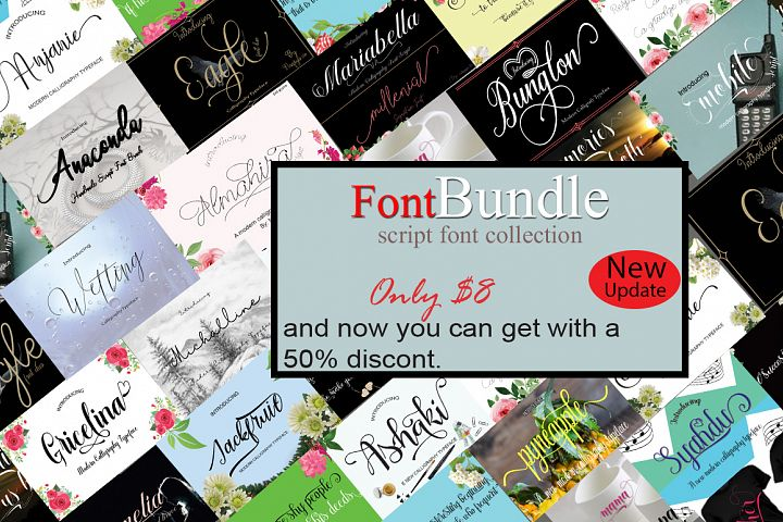 FontBundle script font collection