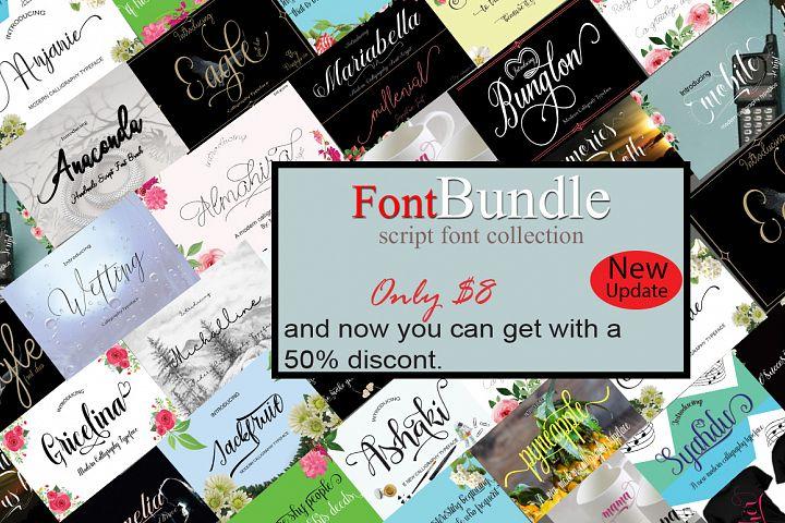 FontBundle script font collection