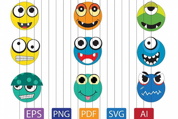 Monster clipart | vector file