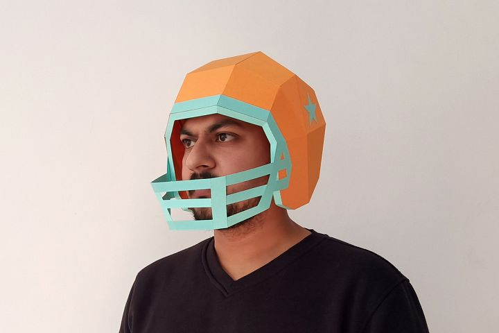 DIY Football Helmet - 3d papercraft