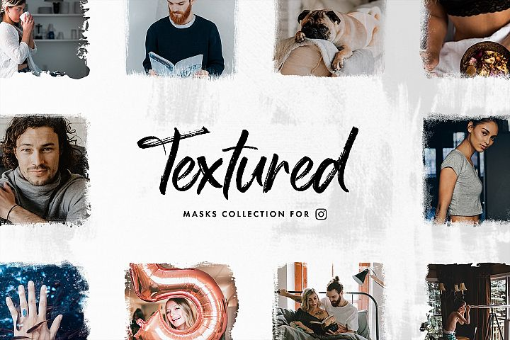 Textured Instagram Masks Set