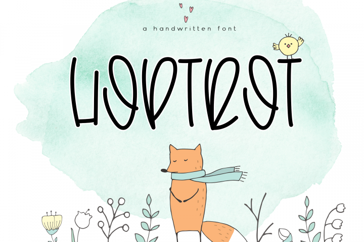 Hoptrot - A Cute Handwritten Font - Free Font of The Week Font