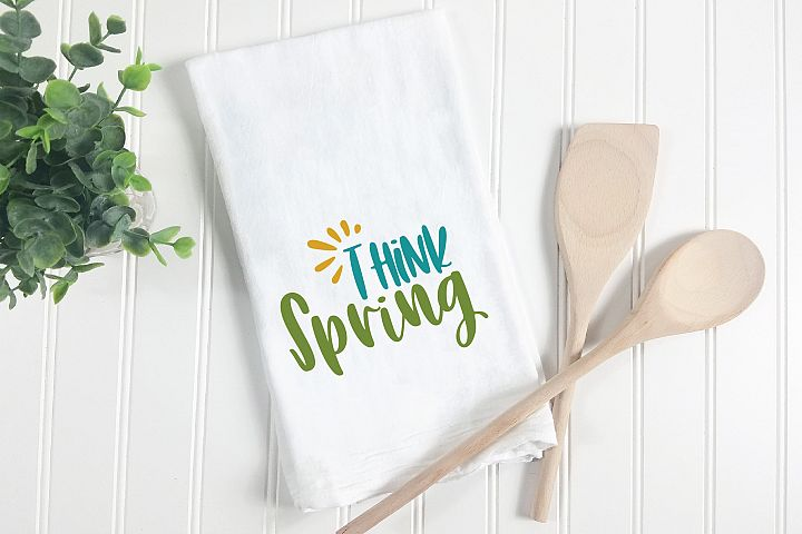Think Spring SVG Cut File - Spring SVG DXF EPS PNG JPG AI example 5