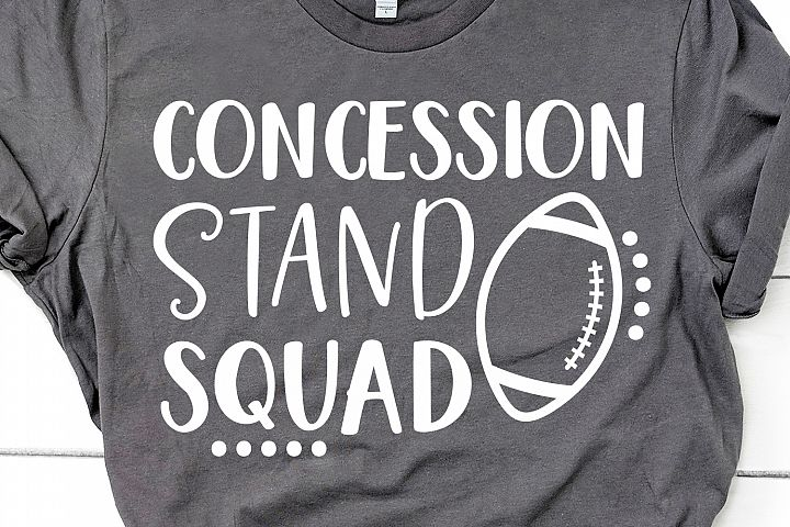 Funny Football Svg, Concession Stand Squad Svg, Football Svg