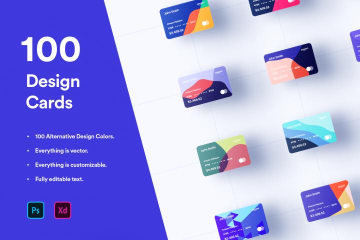 100 Financial Virtual Design Cards