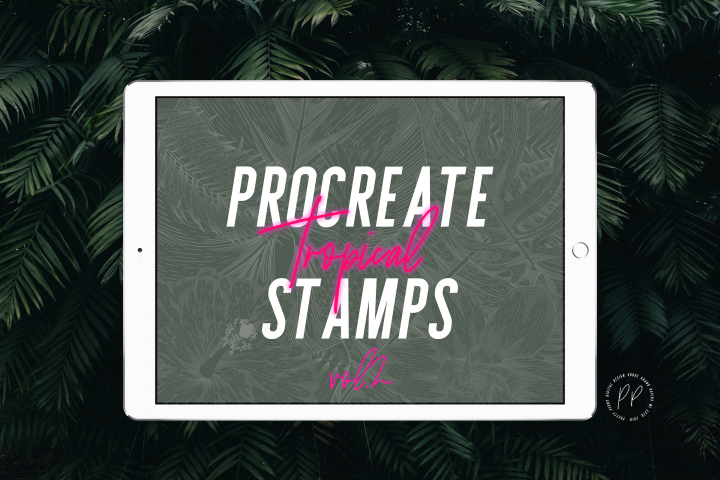 20 Procreate Tropical Stamps Vol. 2