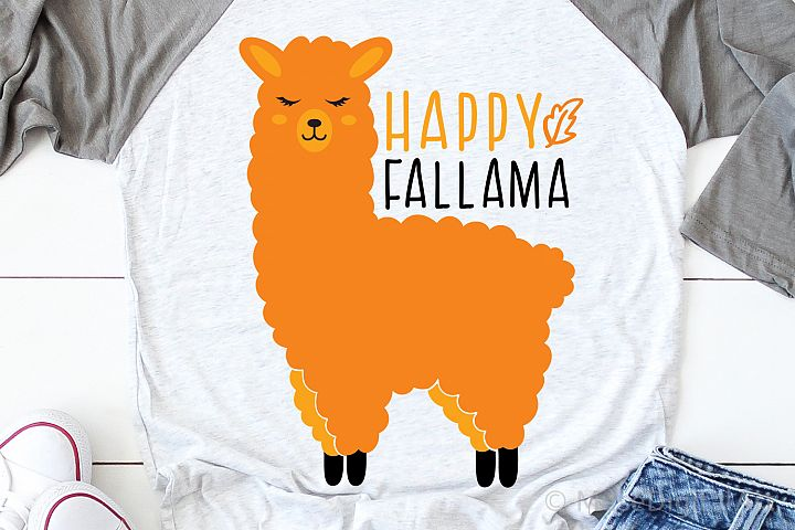 Happy Fall Svg, Funny Llama Svg, Pumpkin Patch Svg, Harvest