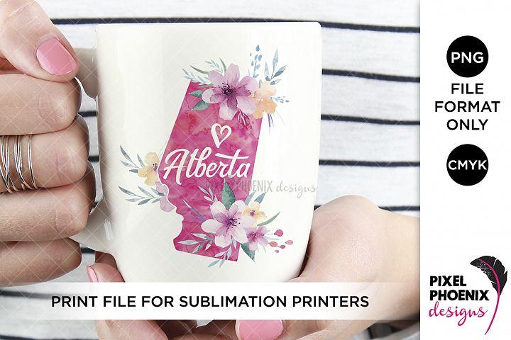 Alberta Sublimation Design