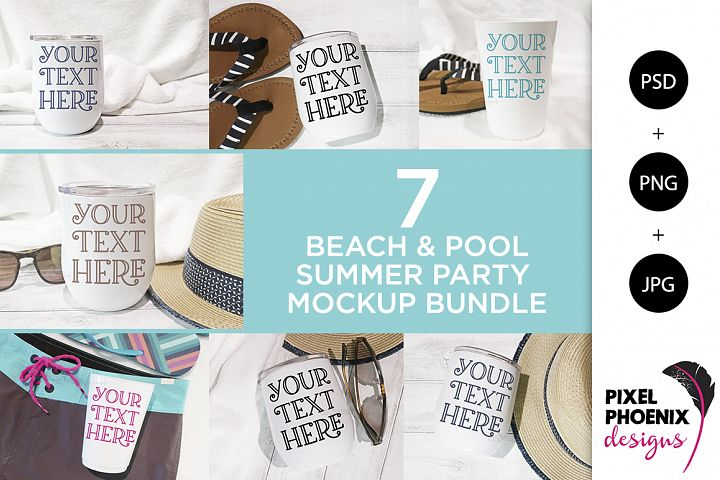 Beach Mockup Bundle - 7 Designs