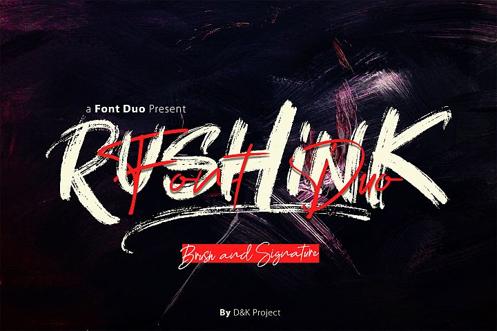 Rushink Font Duo | Brush & Signature