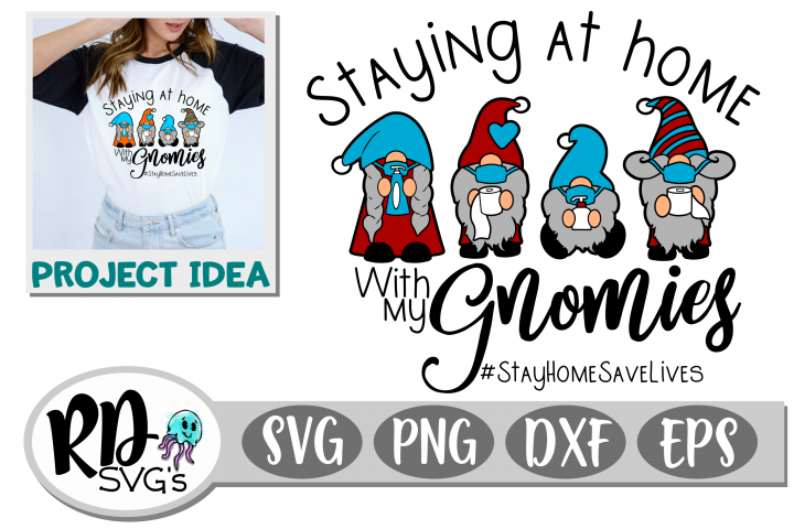 Stay at Home with my Gnomies - A Layered Cricut Cut File