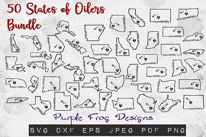 Essential Oil svg bundle all 50 states of America