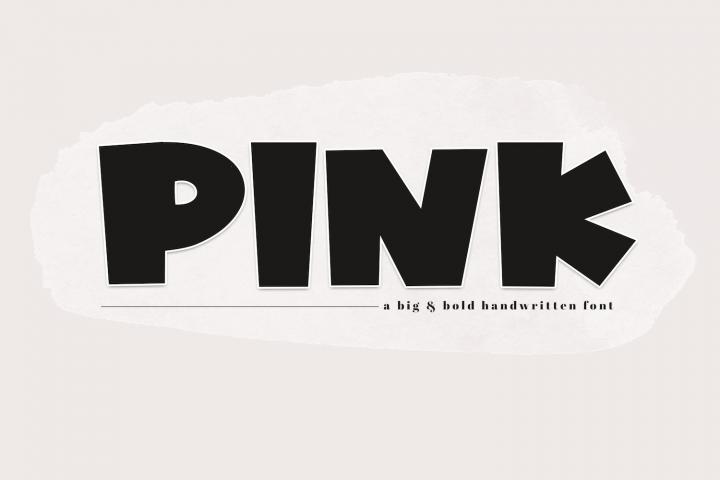 PINK - A Bold Handwritten Font