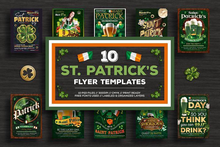 10 Saint Patricks Day Flyer Bundle