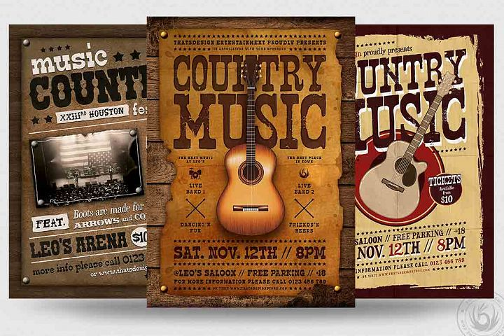 Country Music Flyer Bundle V2